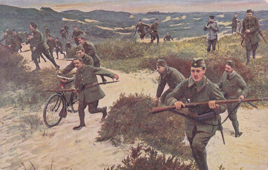Postkaart Vrijwillige Landstorm door Ons Leger