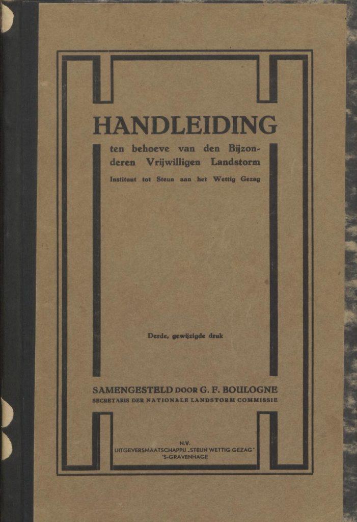 Handleiding ten behoeve van den Bijzonderen Vrijwilligen Landstorm – 1932