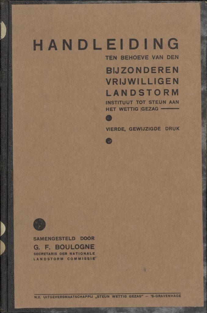 Handleiding ten behoeve van den Bijzonderen Vrijwilligen Landstorm – 1937