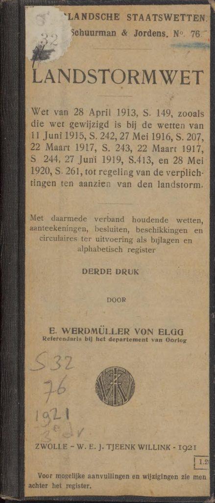 Landstormwet van 1913