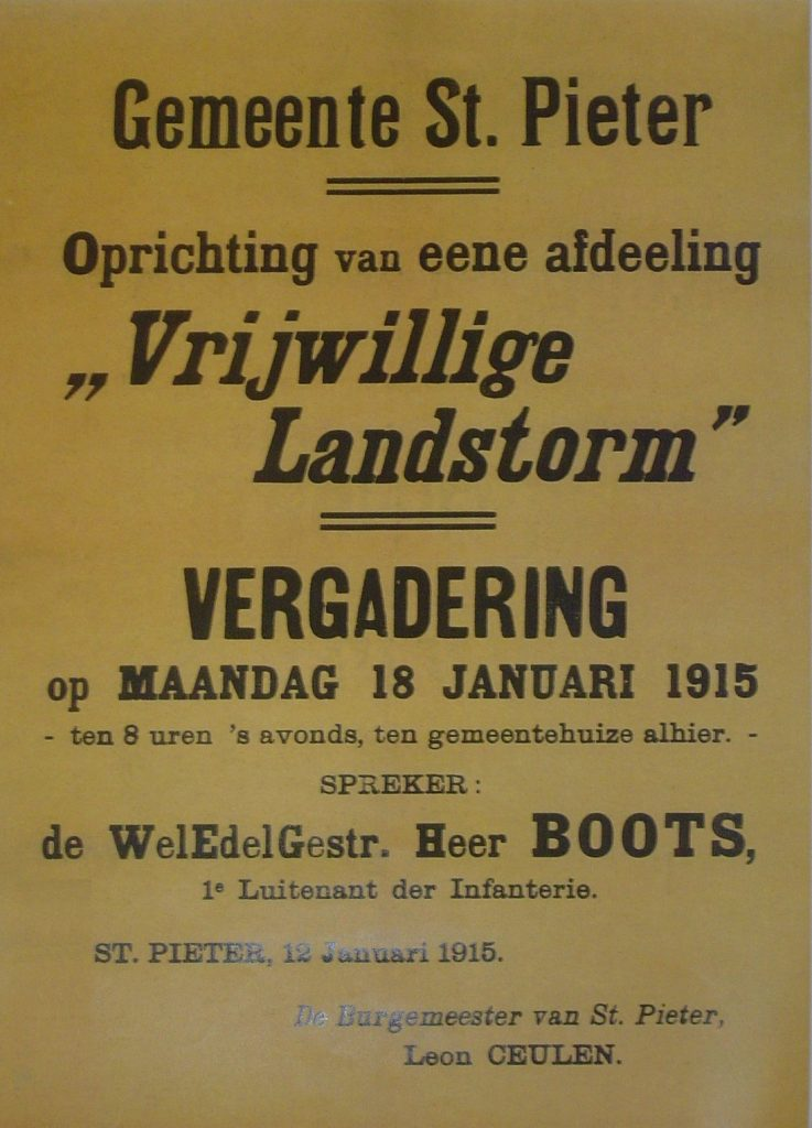 Oproep poster Vrijwillige Landstorm