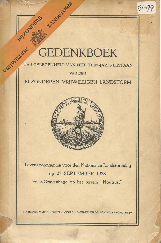 Gedenkboek 10 jaar BVL & Programma Landdag 1928