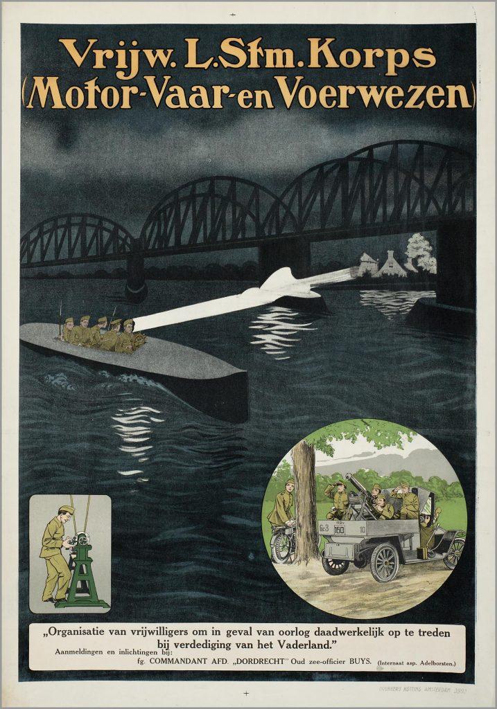 Poster Vrijwillig Landstormkorps Motor- Vaar en Voerwezen