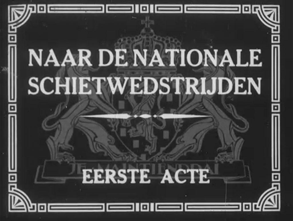 Nationale Schietwedstrijden; deel 1