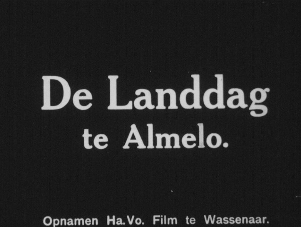 Landdag Almelo 1937