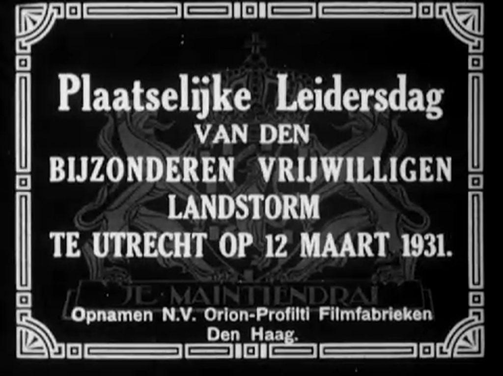 Plaatselijke leidersdag te Utrecht 12 maart 1931