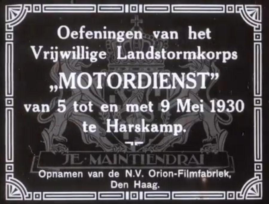 Oefeningen VLSK Motordienst – 1930